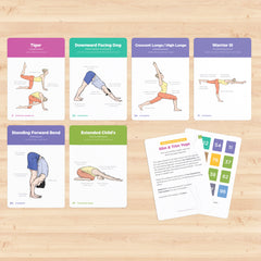 Sequencing Yoga Flash Cards with Sanskrit