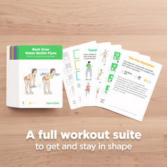 No Equipment exercise cards with bodyweight workouts