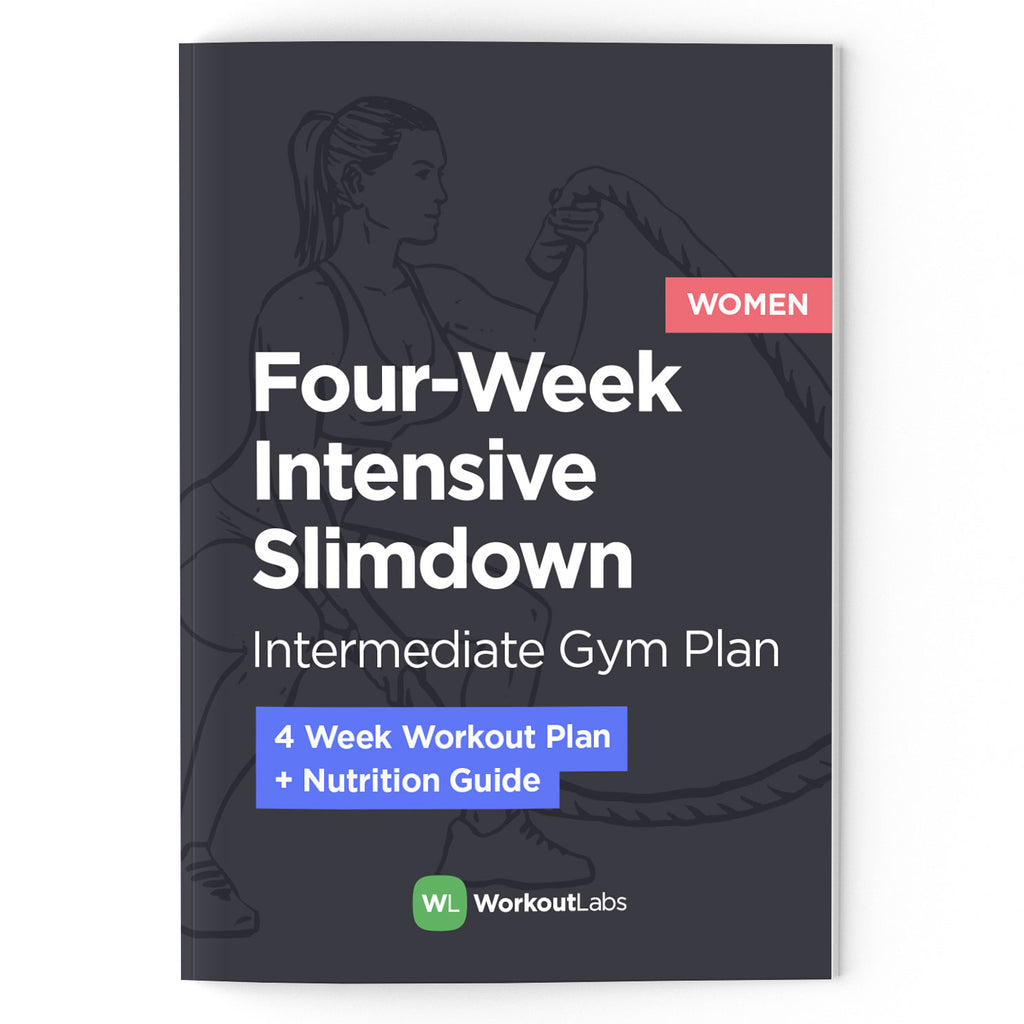 4-Week Intensive Slim Down: Gym Plan & Nutrition Guide (PDF eBook)
