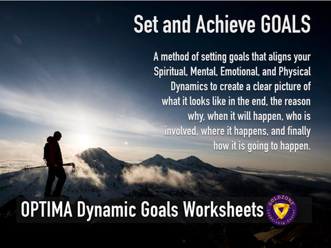 OPTIMA Dynamic Goals Planning Worksheets