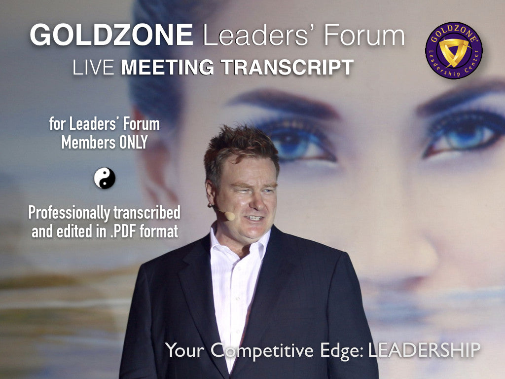 GOLDZONE Leaders' Meeting Transcription Value Pack