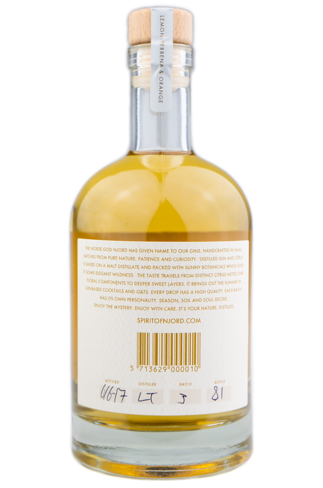 Njord Distilled Sun and Citrus Dandelion Limited Edition