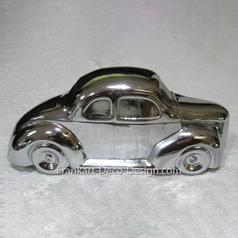 Late 1930's Ford 2-door 5-window businessman's coupe triple chrome desk  model