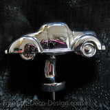 1930's Ford 2-door 5-window coupe triple chrome plated hood ornament - Frankart Deco Design