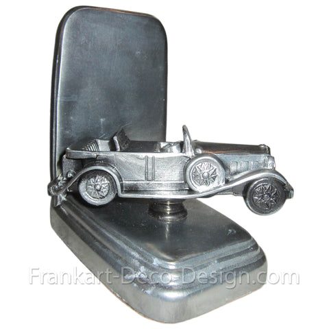 1920s art deco touring car pewter model bookend (single) - Frankart Deco Design
