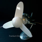 White replacement propeller for 1930's art deco Streamlined Airplane table fan - Frankart Deco Design