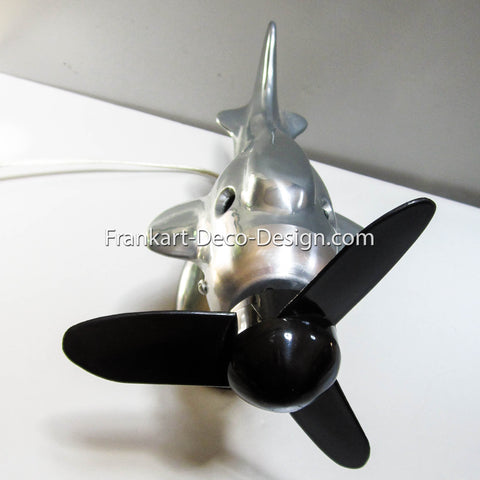Black replacement propeller for 1930's art deco Streamlined Airplane table fan - Frankart Deco Design