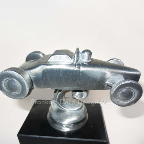 NHRA 1950's Big Daddy Don Garlits dragster brushed aluminum desk model