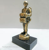 WWII US Army USMC Airborne paratrooper soldier in brass