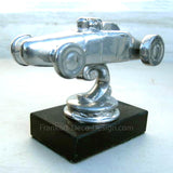 NHRA 1950's Big Daddy Don Garlits dragster hood ornament polished aluminum