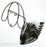 Eames style metal wire Puppy-dog Letter Holder in black