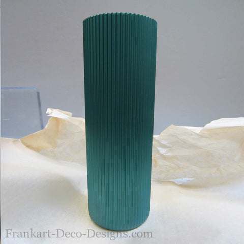 1950s Eames style green Anodized Aluminum Tumbler - Frankart Deco Design