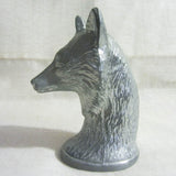 "Fox Bust large 4"" vintage aluminum bottle opener"