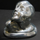 Frankart Art Deco Nymph Bust bookends in polished aluminum (pair)