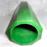 Translucent marble green Bakelite Catalin child's bracelet hexagonal tube (373 grams)