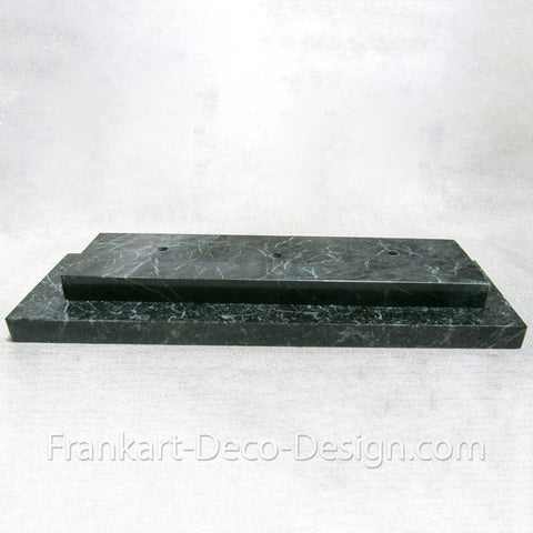 Replacement green marble base for Guerbe Max Le Verrier Egyptian lamp
