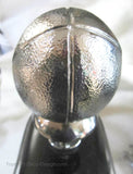 "Football large 6"" hood ornament or mascot in triple chrome"