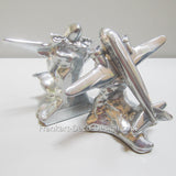 DC-3 Airplane Art Deco Bookends polished aluminum (pair)