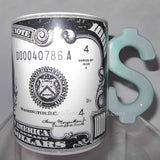Money $1000 bill glazed ceramic coffee mug