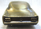"1964-1/2 1965 Ford Mustang Fastback 5"" desk model in antique brass"