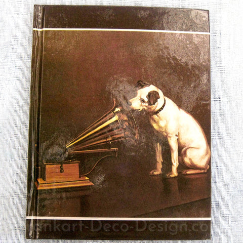 Nipper Victor Edison a large diary or notebook