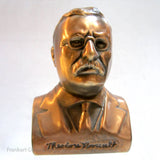 "President Theodore ""Teddy"" Roosevelt 5"" copper bank"