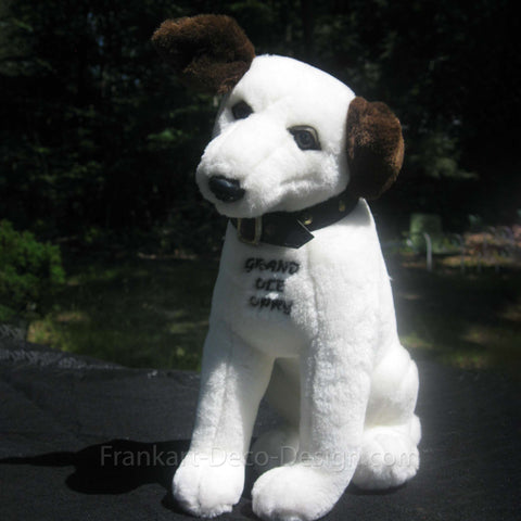 "Nipper RCA Victor Edison 12"" plush toy with embroidered Elvis Presley signature"