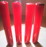 "Bakelite Catalin translucent red Prystal rod 5/8"" diameter by 3-1/2"" long (22 grams)"