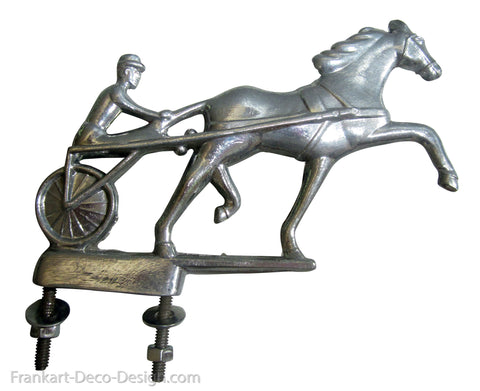 1950's Trotter and Sulky hood ornament or mailbox marker