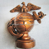 USMC Marine Corps Insignia hood ornament or topper in baked copper