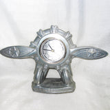 WWII-style Airplane mantel manifold and propeller quartz clock - Frankart Deco Design