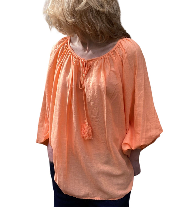 WOMEN'S BOHO Style Blouse Batwing Sleeves, Orange
