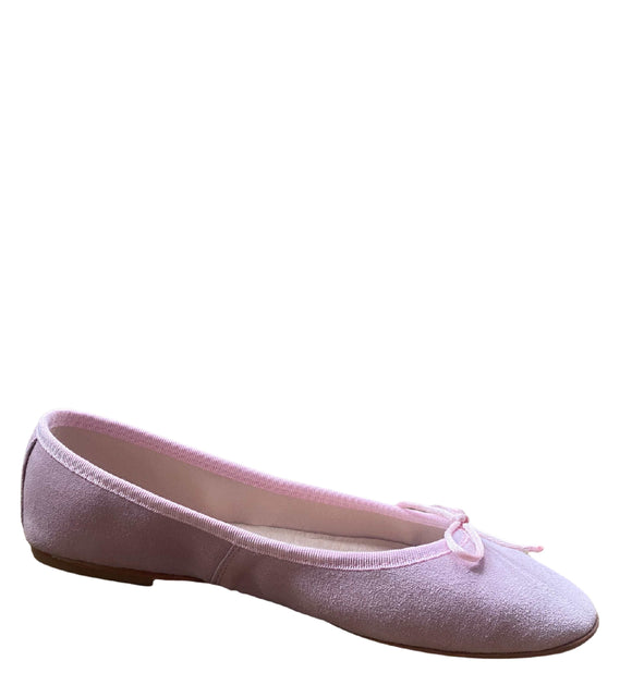 Made in Italy Suede Flat Slip Ons Pumps Ballerinas, Pink