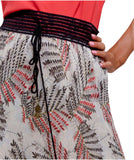 Palazzo Skirt Trousers Combo Black Red Pattern