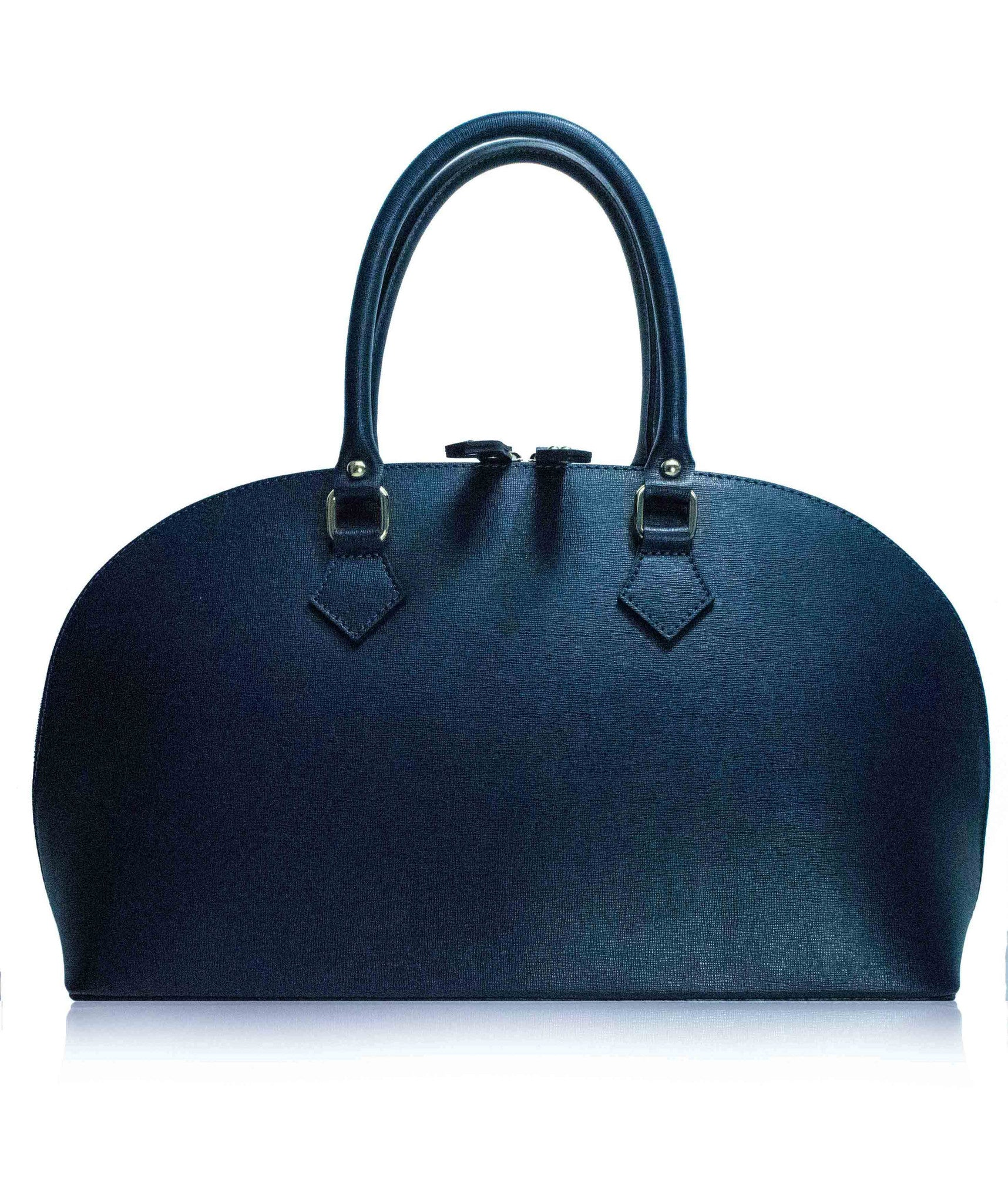 425275255a83 LAJATICO Dark Blue Italian Leather Tote Bag | Florence Leather Collection