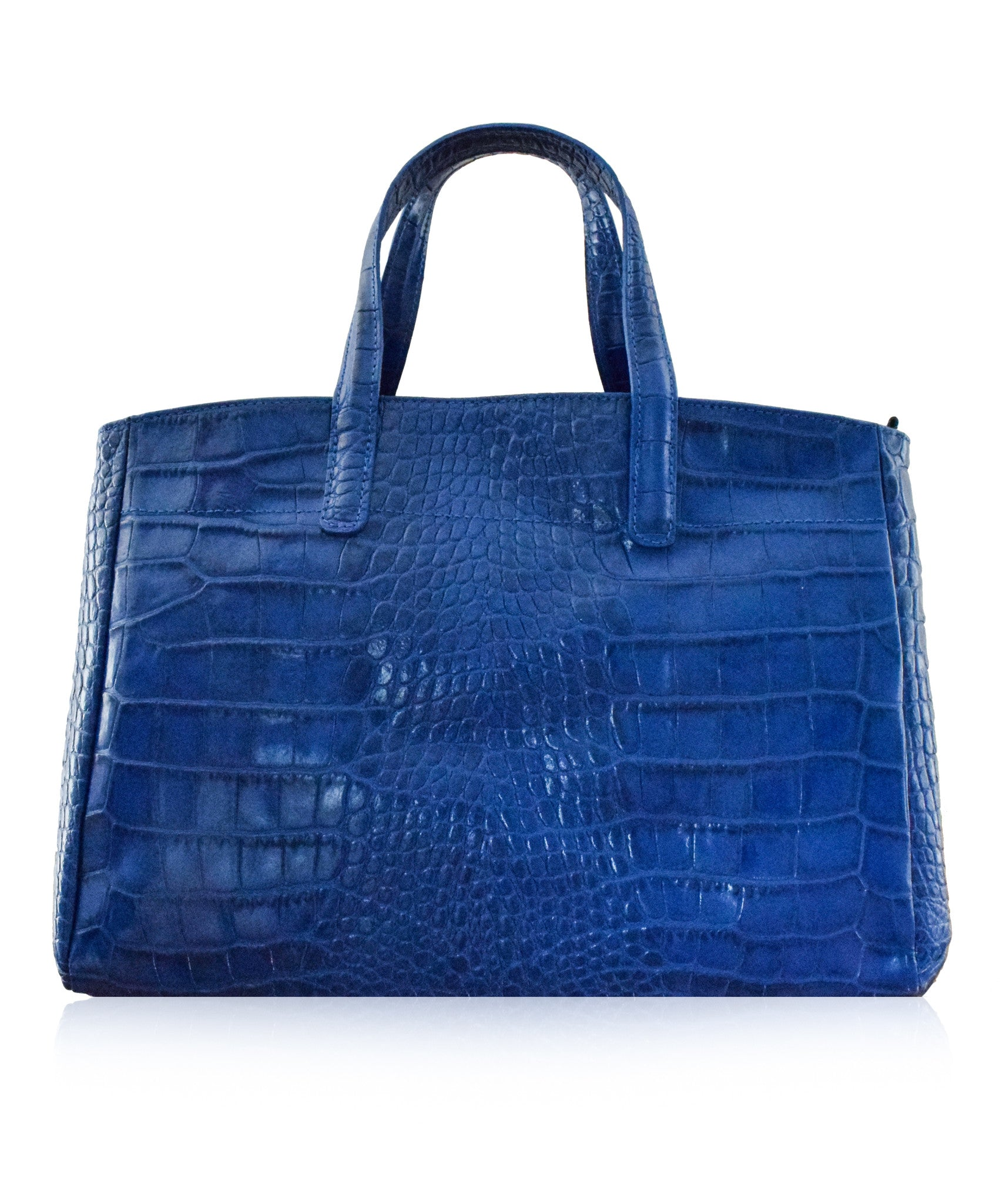 ba536a3933f5 GODENZO Blue Longchamp Roseau Style Italian Leather Tote Bag ...