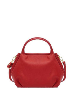 LEGOLI Compact Soft Leather Grab Bag, Red