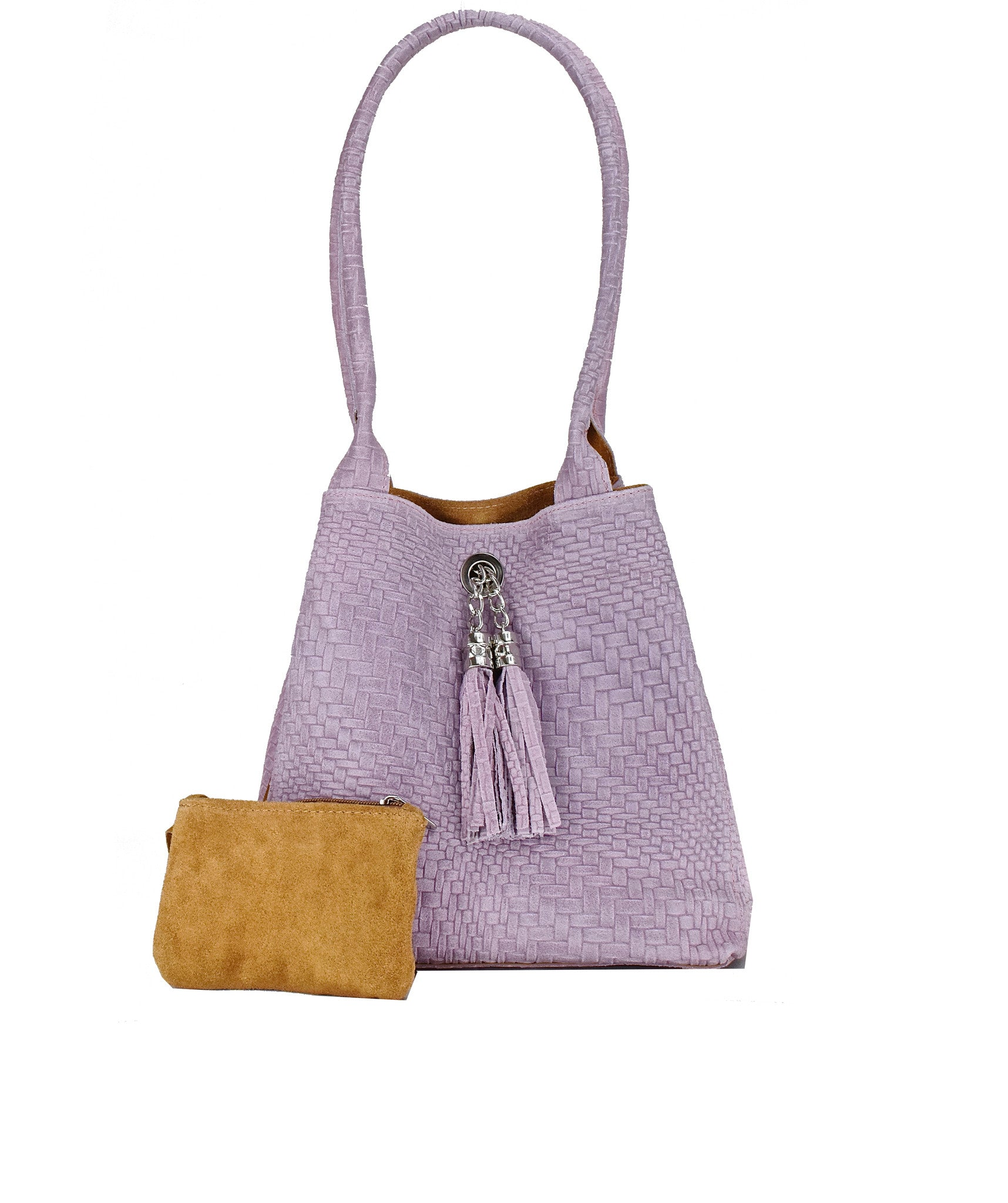 23289d4a29 POPPI WOVEN. Lilia italian leather tote bag front view