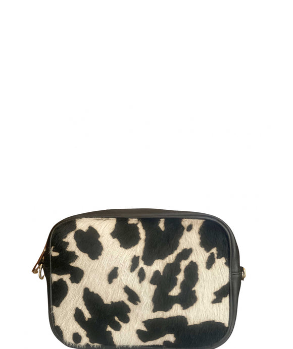 SANO SOHO Style Soft Italian Leather Compact Shoulder / Crossbody Bag, Cow