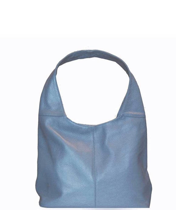 SIGNORIA Denim Soft Italian Leather Hobo / Shoulder Bag