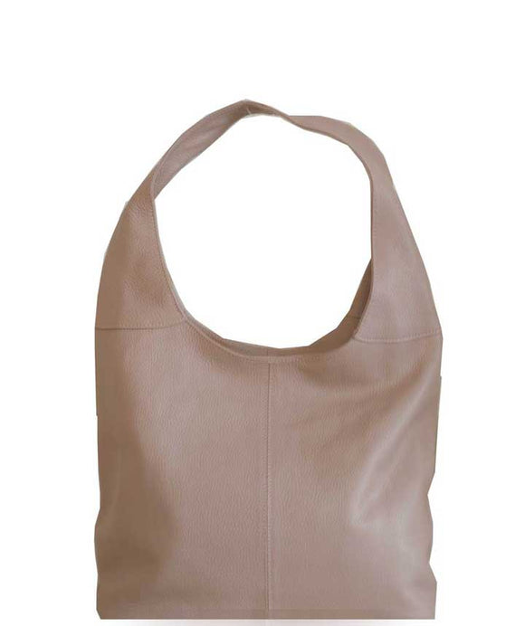 SIGNORIA Soft Italian Leather Hobo/Shoulder Bag, Blush Pink