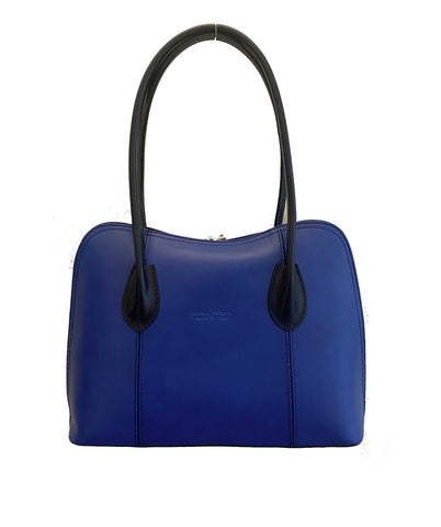SILLANO Royal Blue Italian Leather Shoulder Bag