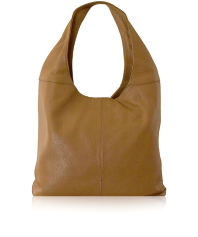 SIGNORIA Tan Soft Italian Leather Hobo / Shoulder Bag