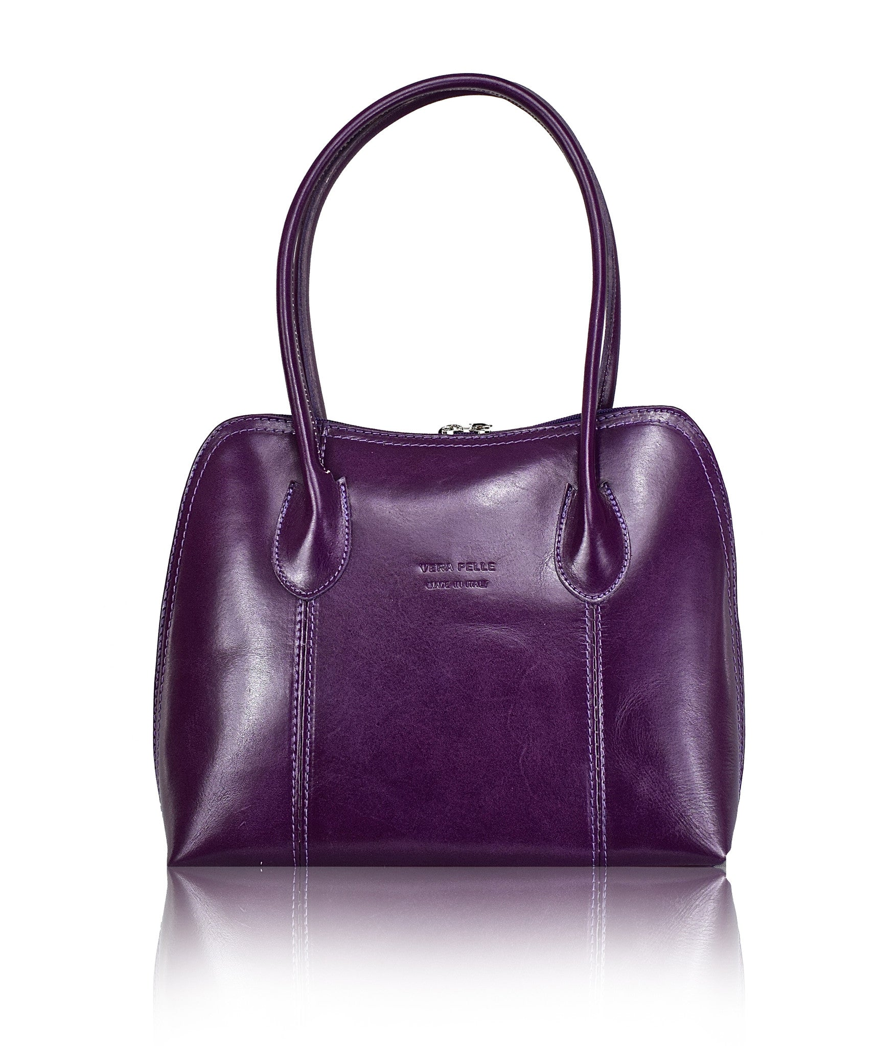 Sillano purple italian shoulder bag front view