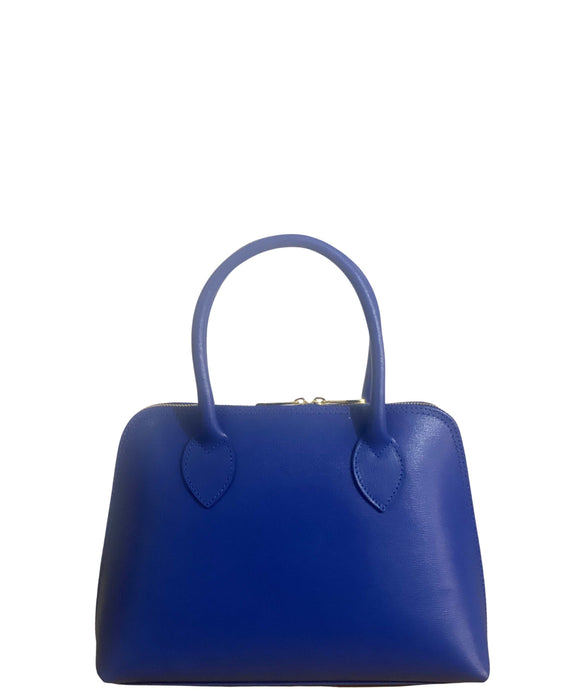 Women's Leather Grab handbag made in Italy | Grab Bag | Royal Blue