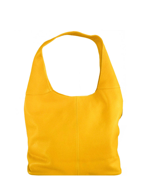Women's Made in Italy Yellow Soft Leather Hobo Bag / Shoulder Bag