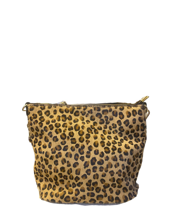 MAZZOLLA Leather Crossbody/Grab Bag, Small Leopard