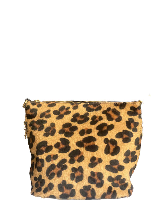 MAZZOLLA Leather Crossbody/Grab Bag, Leopard