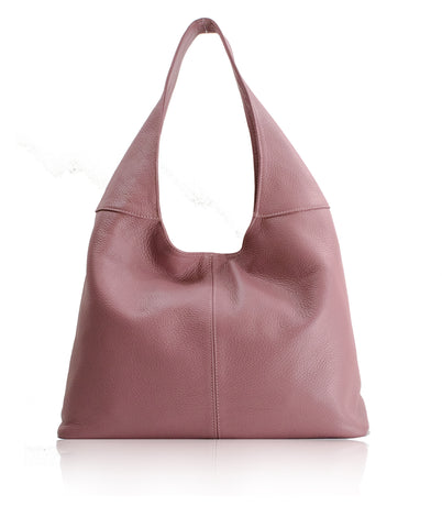 SIGNORIA Pink Soft Italian Leather Hobo / Shoulder Bag