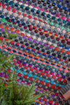 Multi Colour Jute & Recycled Cotton Slub Rag Rug